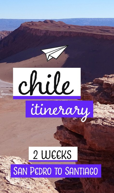 Chile is a land of immense natural beauty stretching 4,000km from north to south. This Chile itinerary for 2 weeks covers San Pedro de Atacama to Santiago. #chile #traveldestinations #chileitinerary