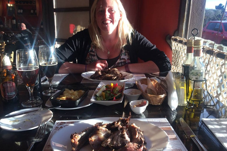 We treated ourselves to a special meal at El Asador Patagónico after completing the W Trek