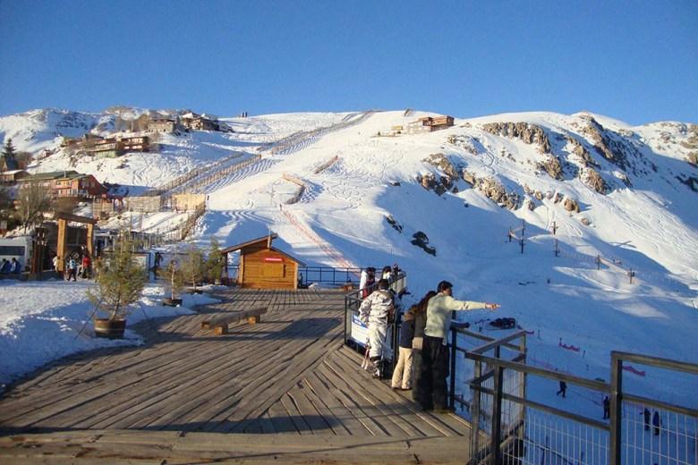 Farellones ski resort Chile