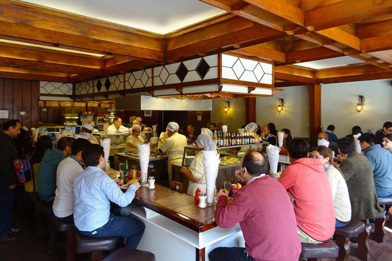 Fuente Alemana is a famous eatery in Santiago serving one of the world's best sandwiches