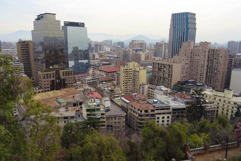 The city view from Castillo Hidalgo on the top of Cerro Santa Lucia