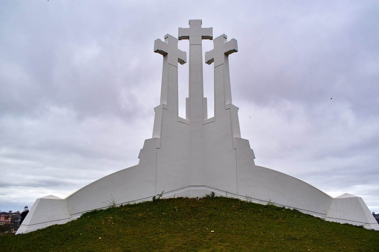 The Three Crosses Monument overlooking Vilnius has existed in varying forms for three centuries