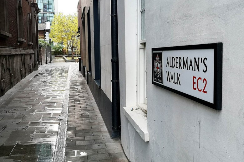 Alderman's Walk is a passageway in East London with a wealth of history