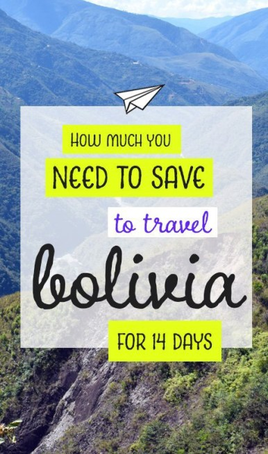 Trying to figure out how much to save for your trip to Bolivia? Take a look at what we spent over 14 days to save the perfect amount #travelsouthamerica #southamerica #boliviabudget #travelbolivia