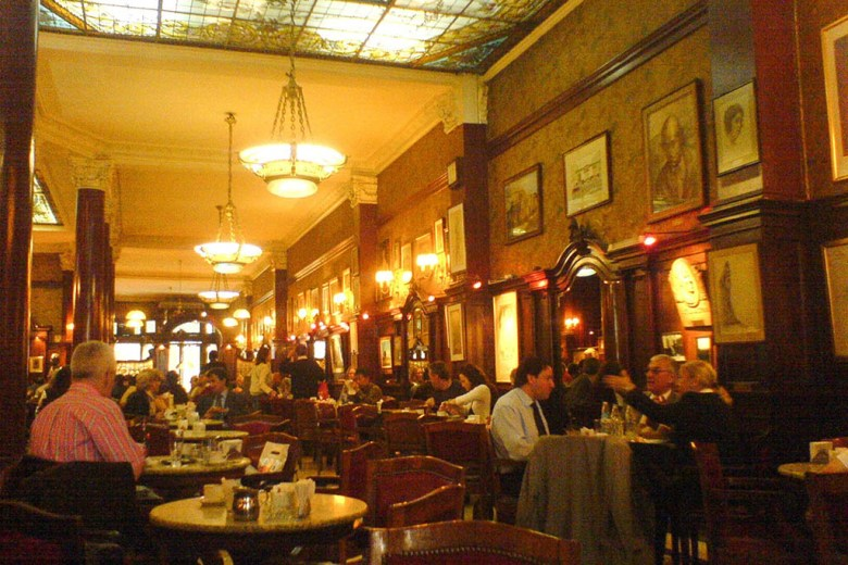 Café Tortoni is the oldest coffeehouse in Buenos Aires. Photo by Tjeerd Wiersma