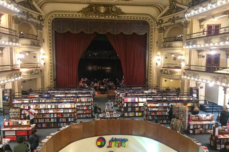 El Ateneo Grand Splendid is a bookstore built inside a century-old theatre