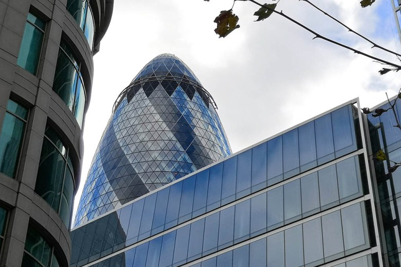The Gherkin is built on the site originally earmarked for a 92-floor Millennium Tower