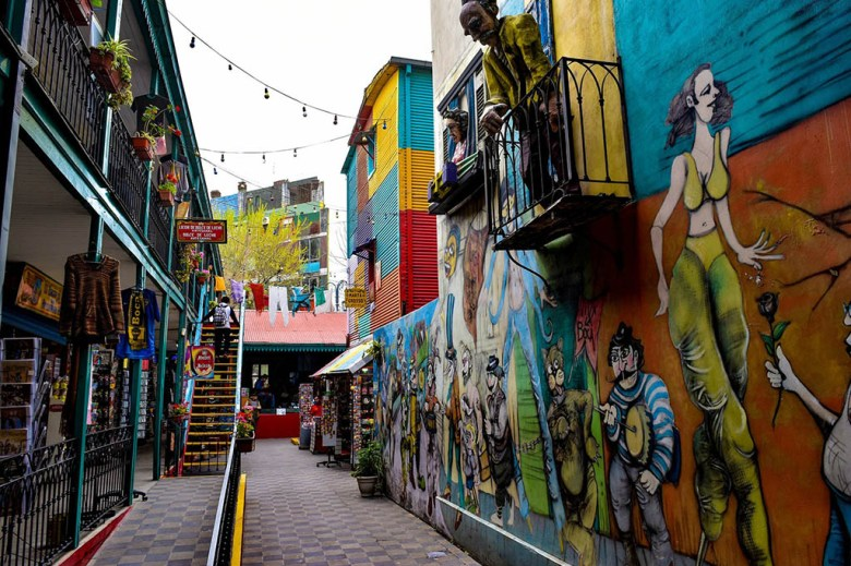El Caminito, the main road of La Boca, is a colourful open-air museum
