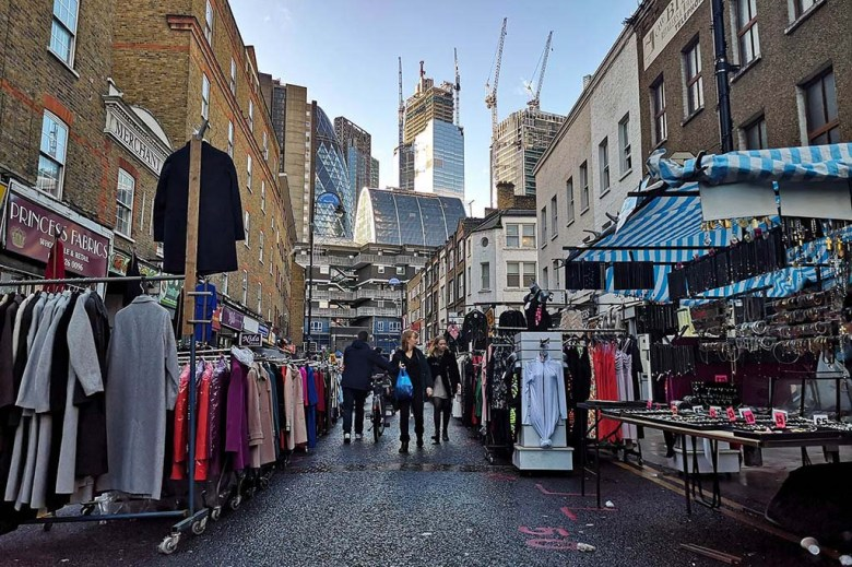 Petticoat Lane Market is one of London's oldest and most famous markets