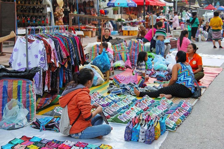 Luang Prabang's night market takes over the city centre every day from 5pm to 11pm