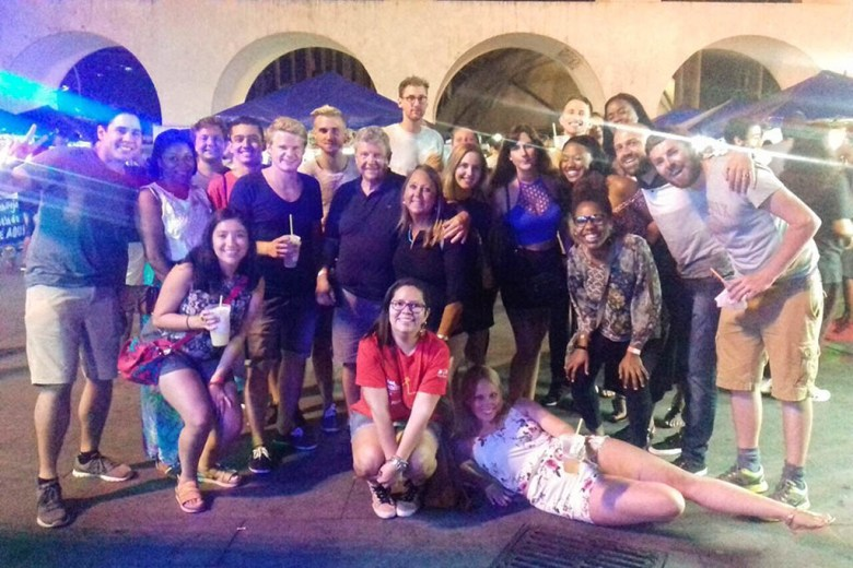 We met a bunch of awesome people and experienced a Brazilian street party on the Rio pub crawl