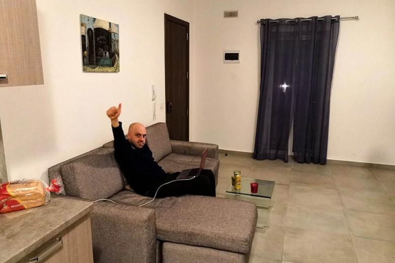 Blogging from our apartment in Sliema, Malta