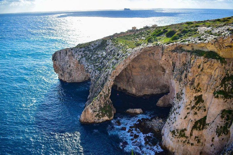 The Blue Grotto is one of the most iconic features of Malta's coastline