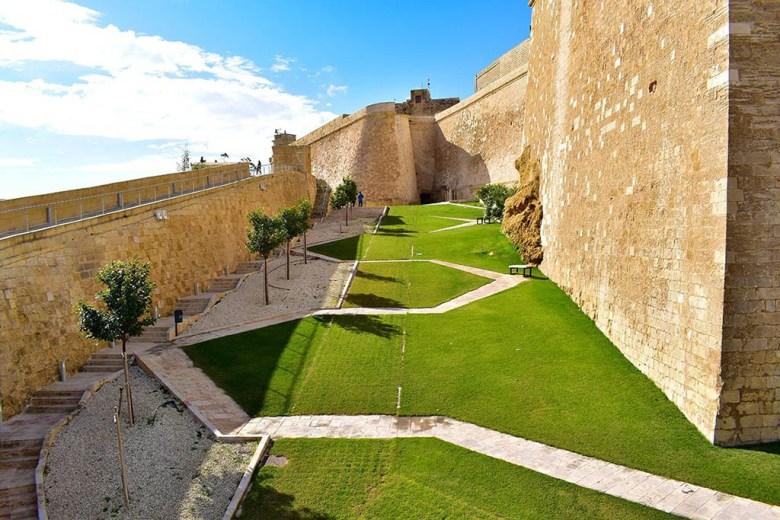 Inside the grounds of La Cittadella, Gozo