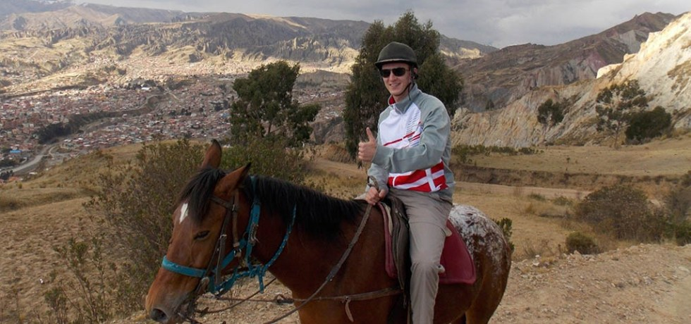 Alan Graves on a horse-riding trip in Bolivia