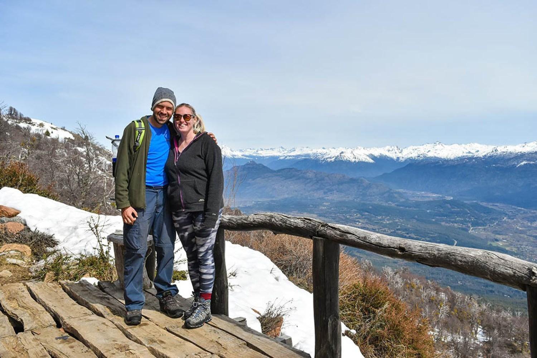 Alex and Lisa in El Bolson Argentina