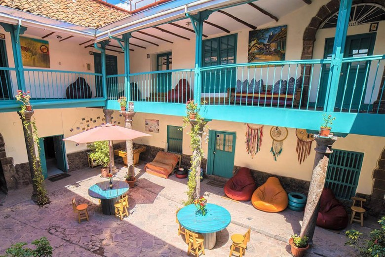 Gaia House hostel is set inside a charming old colonial building a short walk from the historic centre of Cusco
