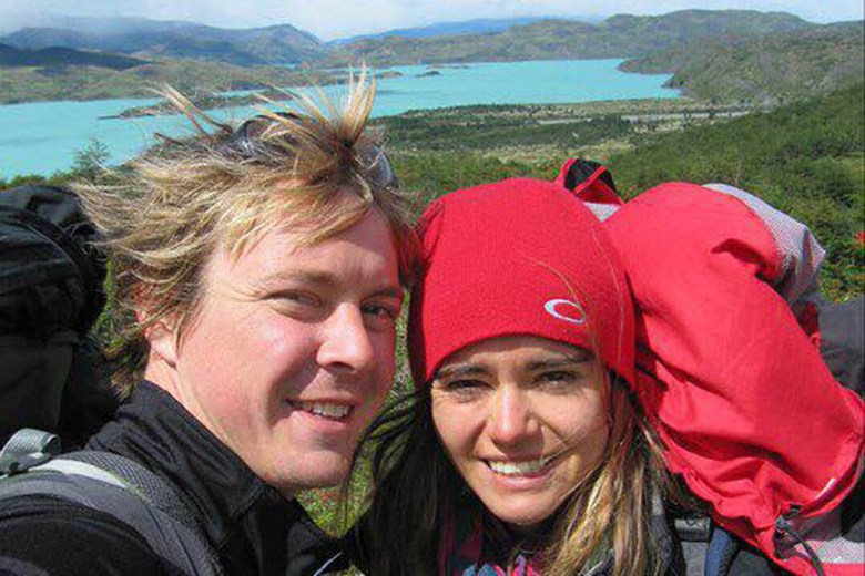 Chris and Hannah trekked in Torres Del Paine National Park in Chilean Patagonia on their 19-month journey