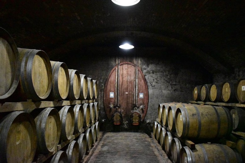Scacciadiavoli's cellar is surrounded by an air tunnel which allows for temperature control