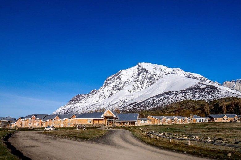 Hotel Las Torres stands at the foothills of mountains on the east of the park. Photo by Hotel Las Torres Patagonia