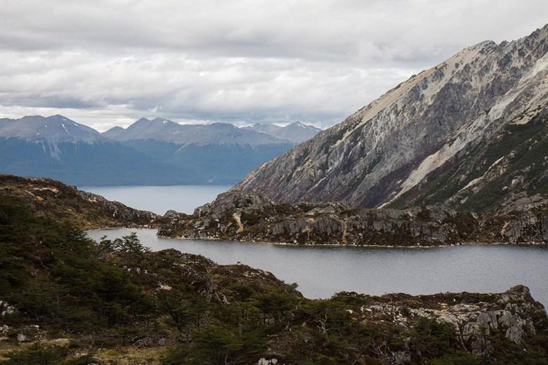 View of Laguna Mariposa on the Sierra Valdivieso trail