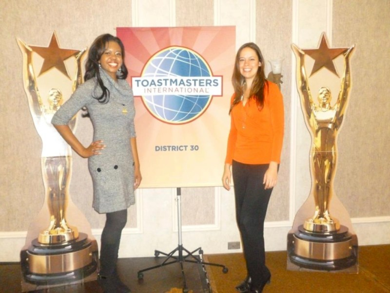 Liz Pittelkow and Charlene Toastmasters copy
