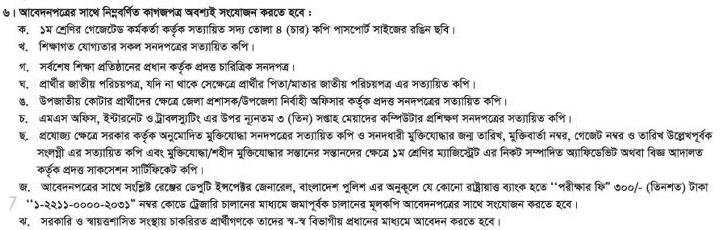 Bangladesh Police Sub-Inspector (SI) Job Circular 2018