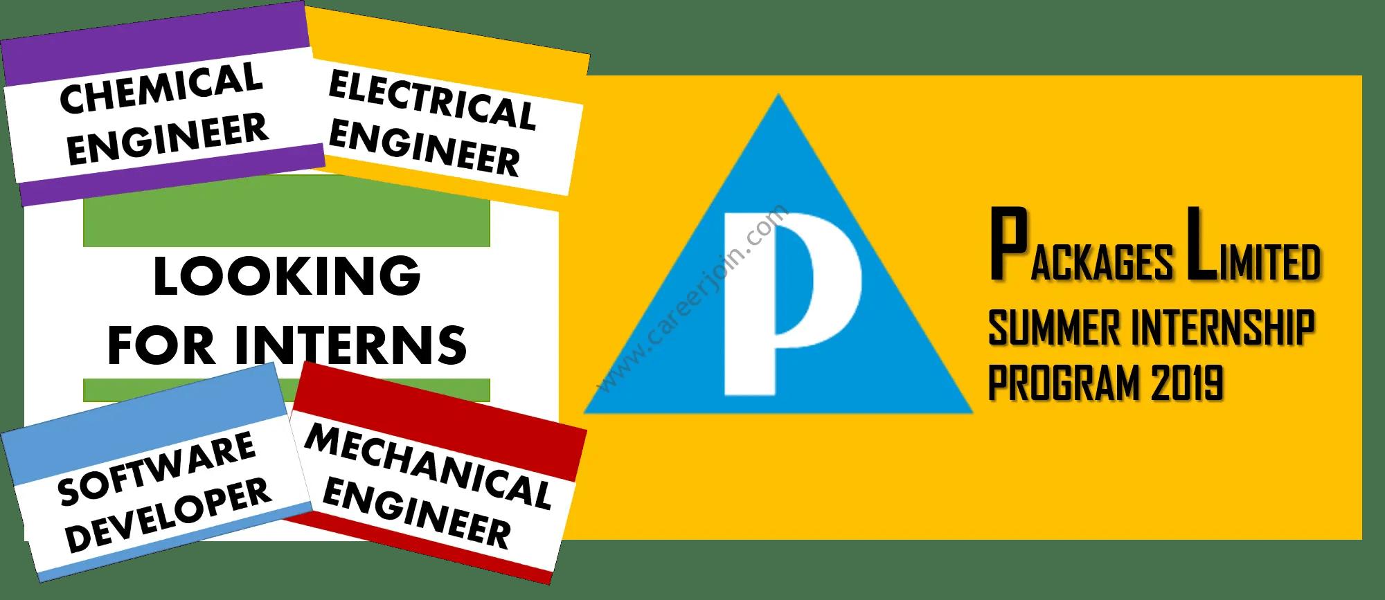 Packages Limited Summer Internship Program 2019