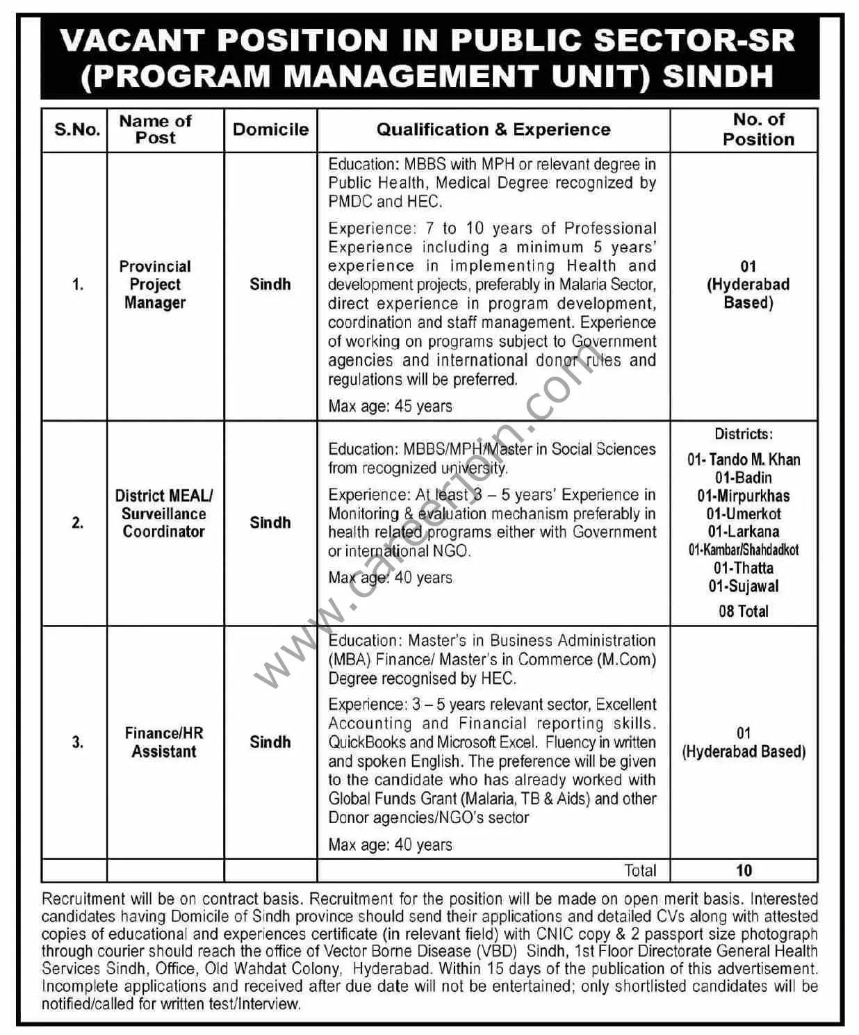 Public Sector Program Management Unit Jobs June 2021