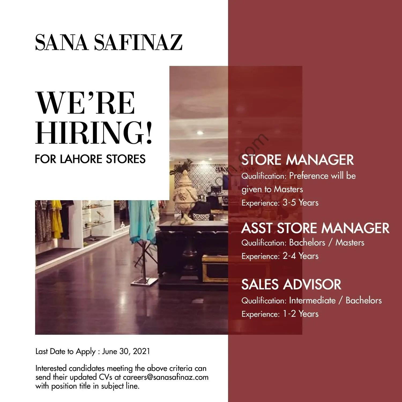 Sana Safinaz Jobs June 2021