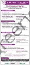Superior University Jobs September 2021