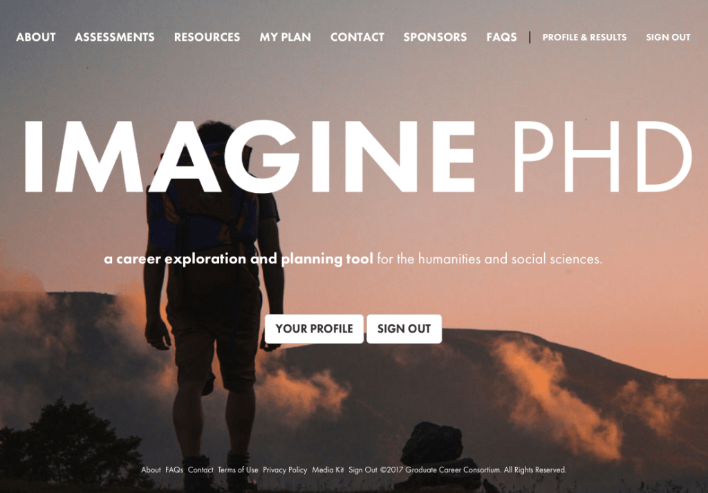 Using ImaginePhD to Explore Careers