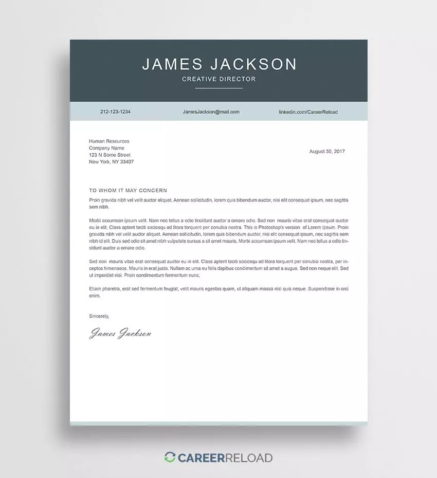 Free Templates For Cover Letters Free Photoshop Cover Letter Templates Free Download