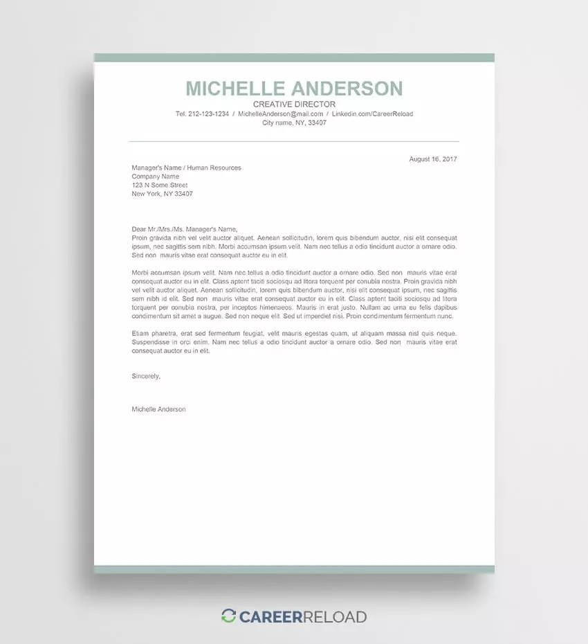 Free Templates For Cover Letters Free Cover Letter Templates For Microsoft Word Free Download