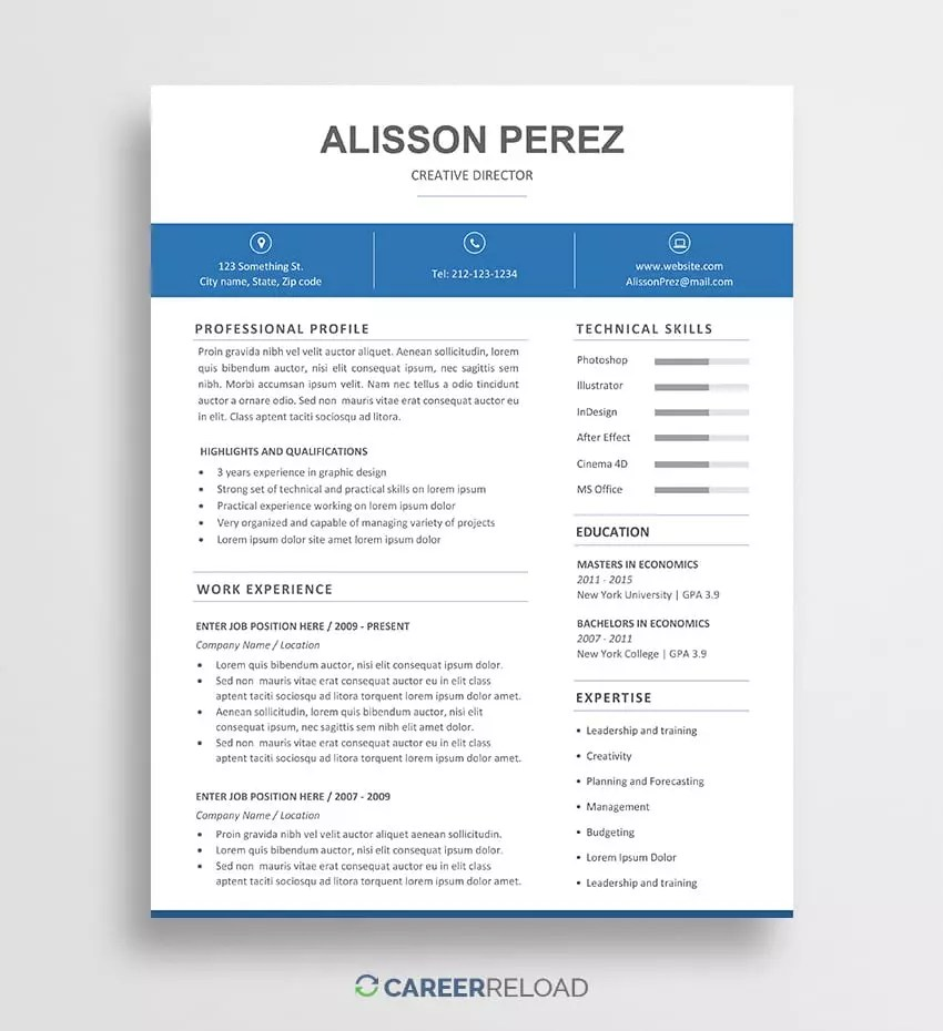 Resume Templates On Word Free Word Resume Templates Free Microsoft Word Cv Templates