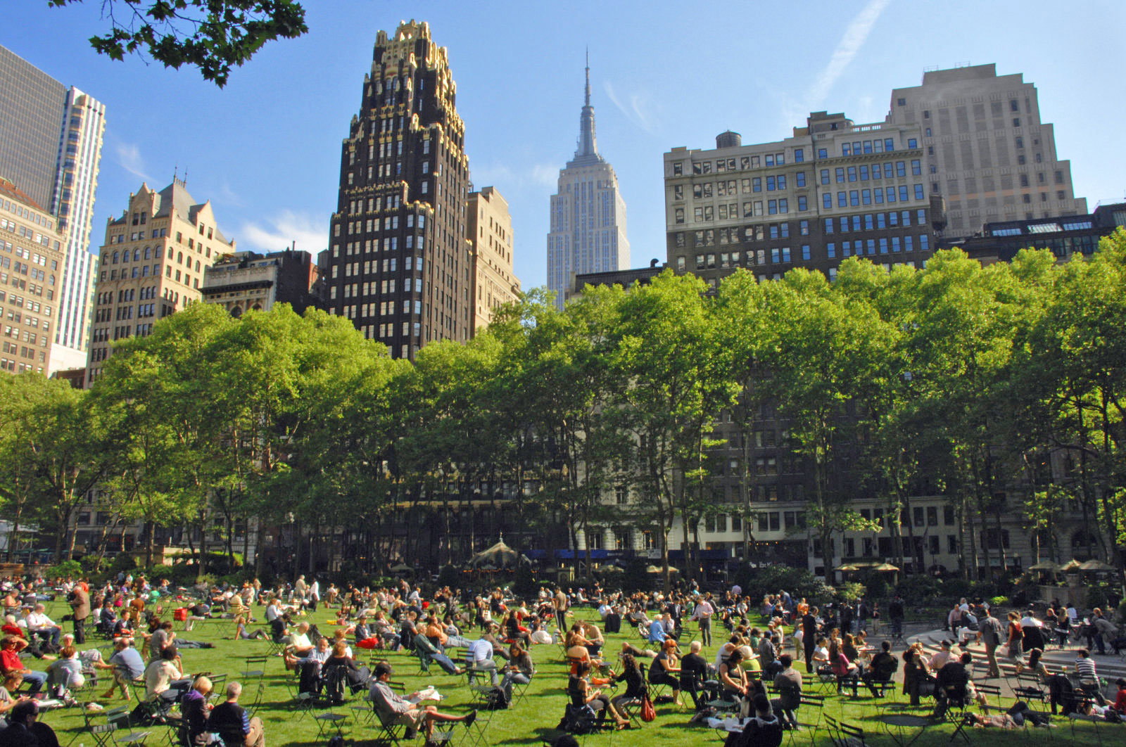 Bryant Park in New York City, right across from Dynata's New York Office