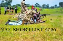 NAF Shortlisted Candidates supplementary