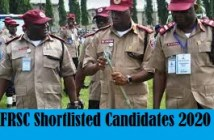 frsc shortlisted candiates