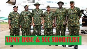 nigerian army dssc shortlisted candidates