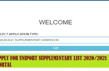 uniport supplementary list