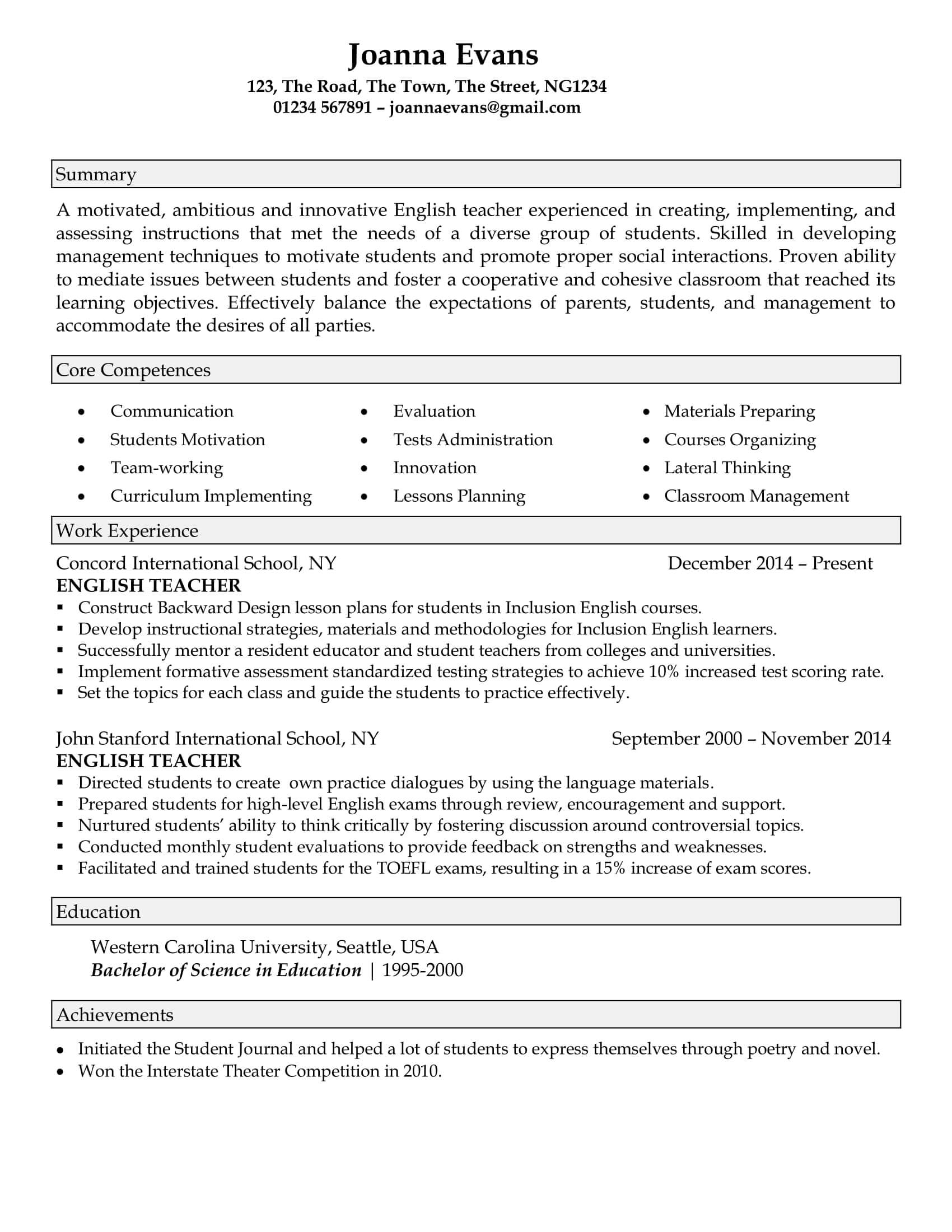 Resume Samples For Professionals Careersbooster The Best Resume Writing Service