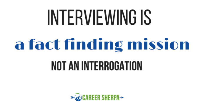 interviewing is fact-finding