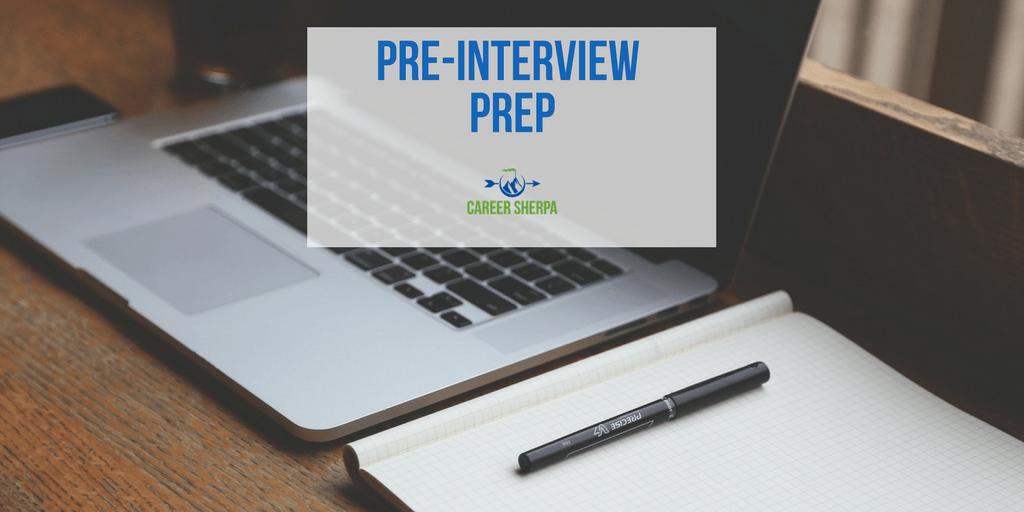 pre interview prep