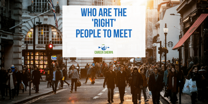 right people to meet
