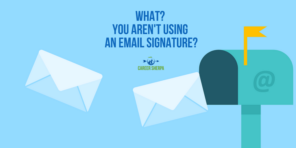 how to set up a signature block on apple mail