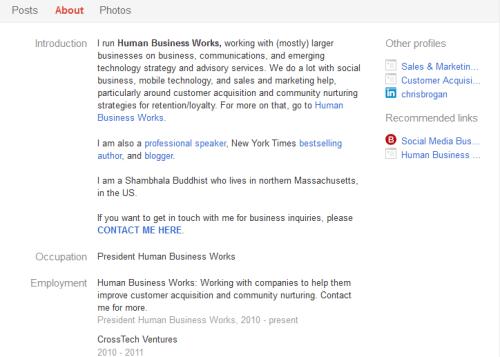 Brogan Google+ profile