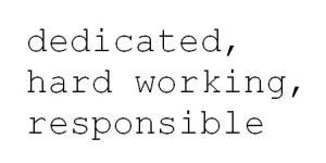 dedicated written
