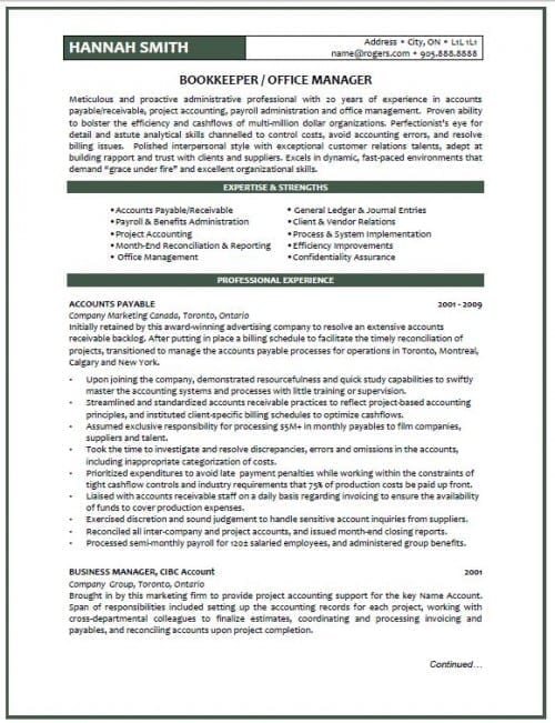 great resumes examples 2012