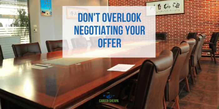 Negotiating Your Offer