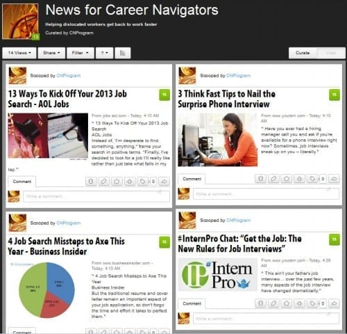 Career Navigator Scoop.it